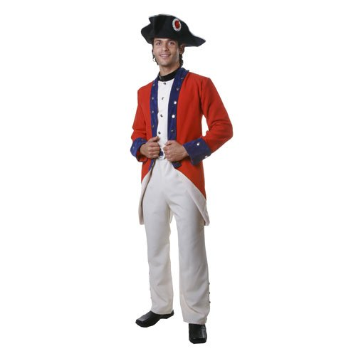 Adult Colonial Soldier Costume Set - M (Colonial Soldier Costume)