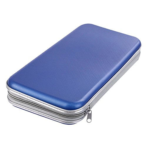 CD / DVD Case , Superiorbuy 80 Capacity CD DVD Wallets Storage Hard Plastic Organizer Blue