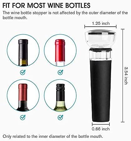 Mafiti Tapones del vino, bomba de vacío, 4-pack corchos de silicona para botellas del vino