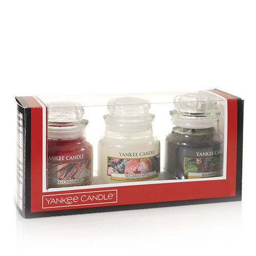 Yankee Candle Holiday Small Jar Trio Gift Set (Gift Candles Set)