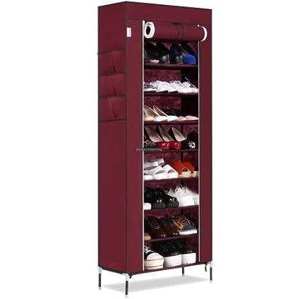 USA Premium Store Shoe Rack Shelf Storage Closet Organizer Cabinet 10 Tier  9 Grid Practical