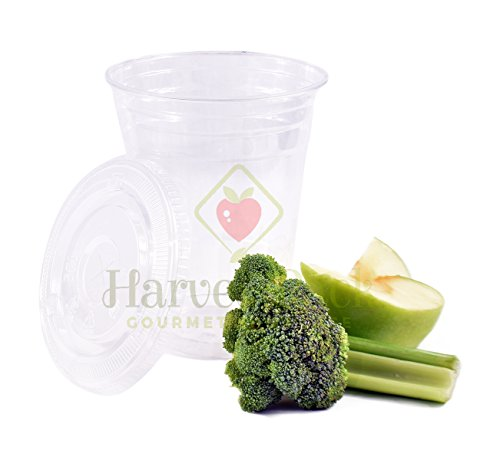 [1000 SETS] Plastic Disposable Cups with Lids - Premium 12 oz (ounces) Crystal Clear PET for Cold Drinks Iced Coffee Tea Juices Smoothies Slush Soda Cocktails Beer Kids Safe (12oz Cups + Flat Lids)
