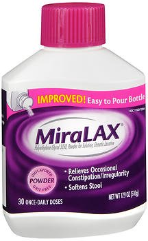 MiraLAX Powder Unflavored 17.9 oz, Pack of 6