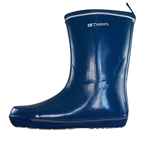 Tretorn Skerry Vinter Shiny femmes latex Wellington Boots - bleu