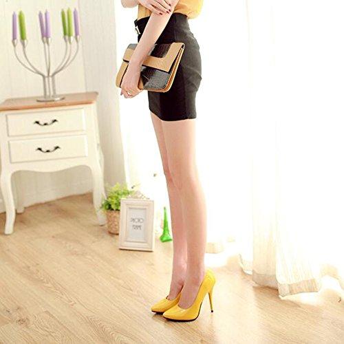 uk4 Taille Sur Classique Slip T7 Les Chaussures Shoes Haut Cjc couleur Womens T7 Pompes Pointu Court Talon Bout Stiletto Eu36 gaWRwUq