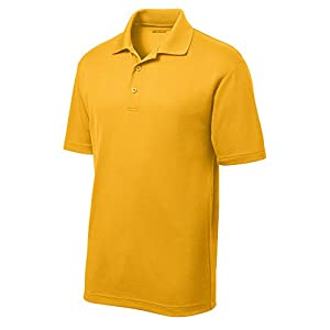 DRIEQUIP Moisture Wicking Mens Polo Cleaning Shirt - gold
