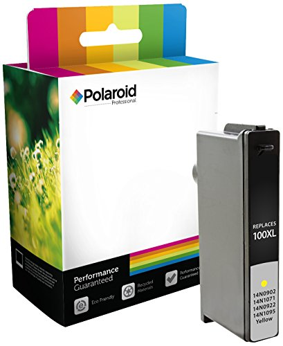 Polaroid Professional L-100YXLS-PRO Remanufactured Inkjet Cartridge Replacement for Lexmark 100XL (14N0902, 14N1071, 14N0922, 14N1095) (Yellow) (Epson Ink Replacement Polaroid Cartridge)