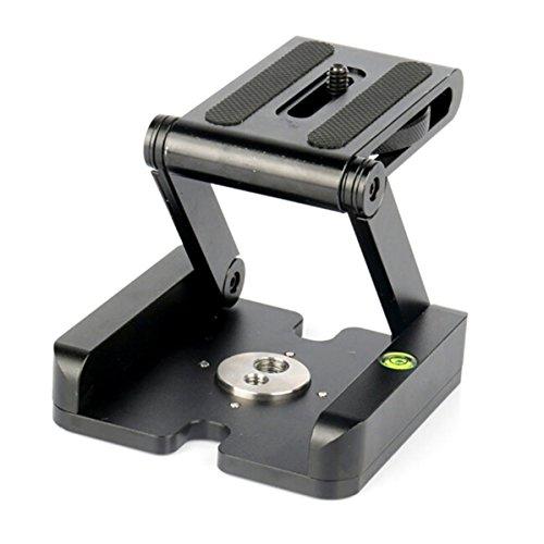 UNKE Camera Z Flex Tilt Folding Quick Release Plate Stand Holder Tripod Ball Head