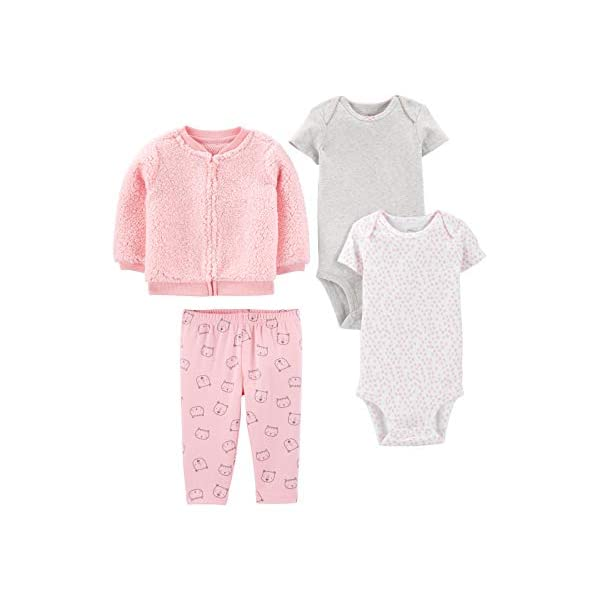 Simple Joys by Carter's Baby Girls' 4-Piece Jacket, Pant, and Bodysuit...