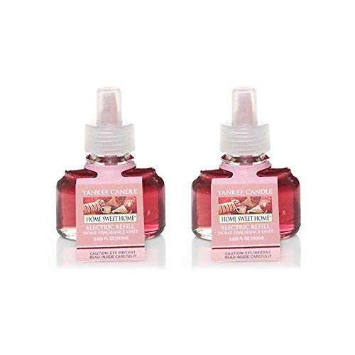 Yankee Candle Home Sweet Home Scent Plug Refill Bottles 0.6 Oz (Pack of 2 Refills)