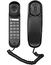حامل هاتف ثابت للهاتف المحمول من Decdeal Mini Desktop Cord Landline يدعم كتم الصوت / إيقاف / إيقاف / إيقاف / إيقاف / إعادة تعيين / فلاش / إعادة وظائف إعادة الاستخدام للمنزل فندق مكتب بنك مركز الاتصال