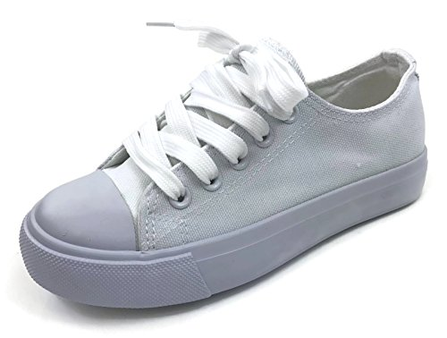 All White Kids Sneakers - 8