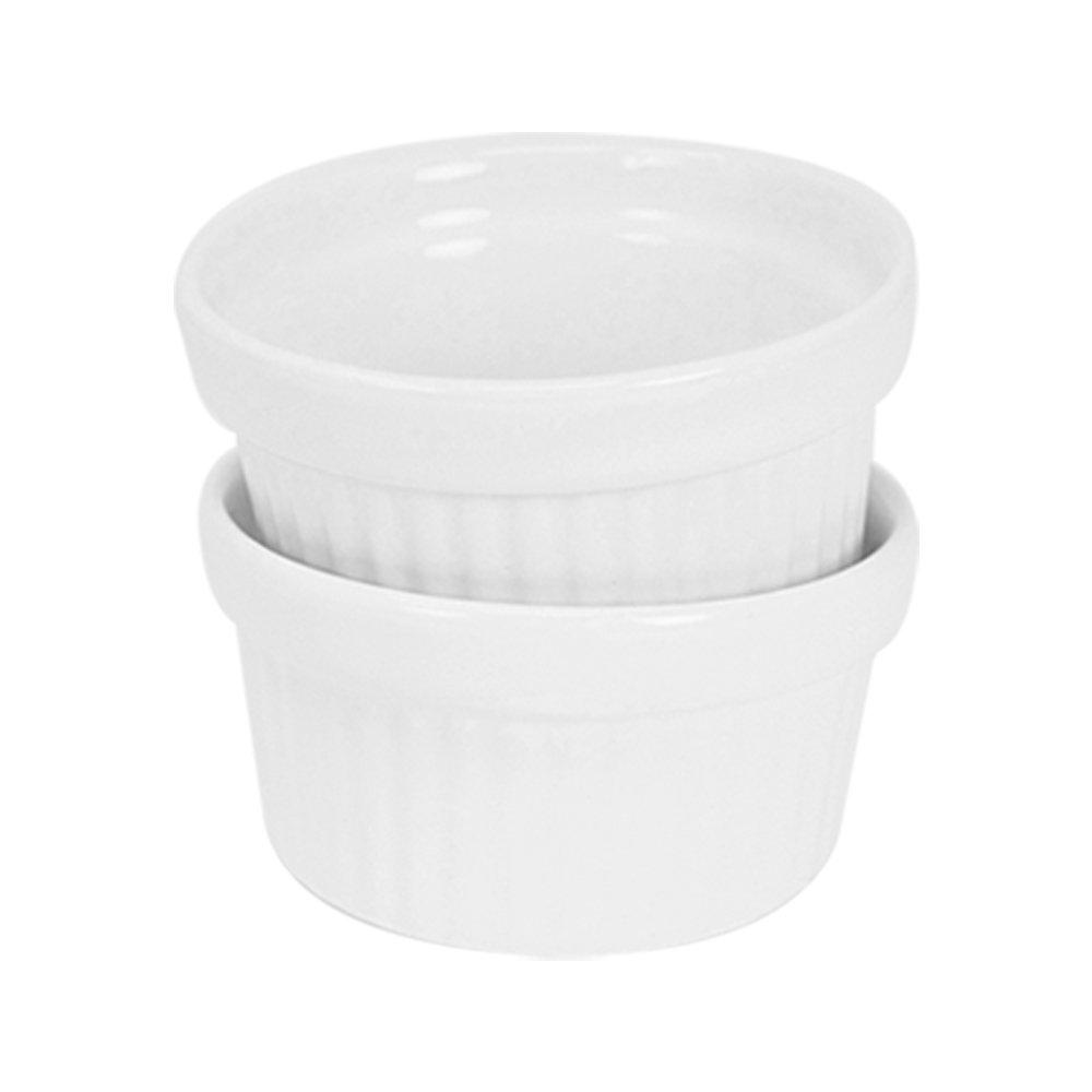 COM-FOUR® 12x cuencos Ragout Fin hechos de cerámica, cazuela y moldes para, por ejemplo, Creme Brulee, en blanco, 140 ml (12 piezas): Amazon.es: Hogar