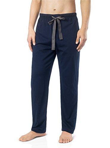 David Archy Men's Comfy Jersey Cotton Knit Pajama Lounge Sleep Pant (XL/Navy Blue)