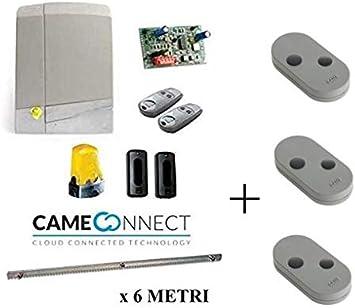 Came Connect 8K01MS-004 - Kit de motorizador, 24 V, puerta deslizante, 600 kg, con cremallera de 6 metros, incluye 18 pernos: Amazon.es: Bricolaje y herramientas