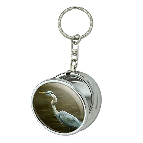 GRAPHICS & MORE Great Blue Heron Portable Travel Size Pocket Purse Ashtray Keychain with Cigarette Holder
