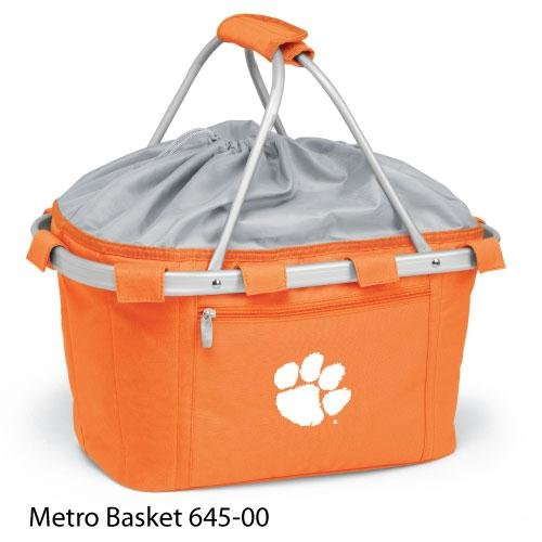 Metro Embroidered Basket (Picnic Time 645-00-103-102-0 Clemson University Embroidered Metro Picnic Basket, Orange)