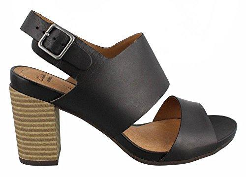 Clarks Women's Banoy Tulia Dress Sandal, Black, 8.5 W US