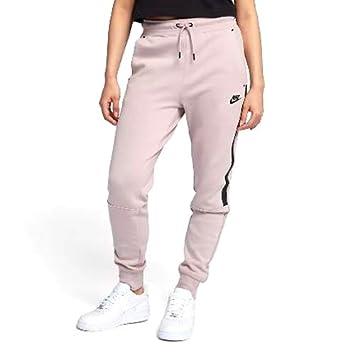 ce34115c11677 Nike 683800-684 Pantalon Femme Rose particule/Noir FR : M (Taille Fabricant