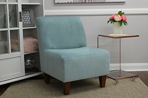 Price comparison product image Mainstays Amanda Armless Accent Chair (Carribean Blue)