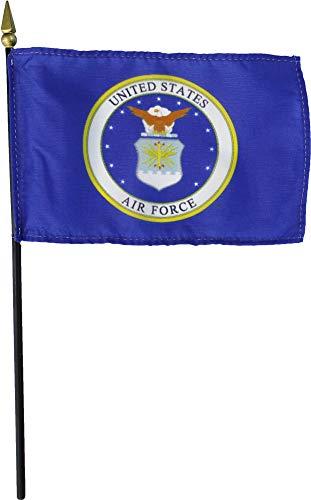"""Annin Air Force (Seal) - 4"""" x 6"""" Military Stick Flag"""