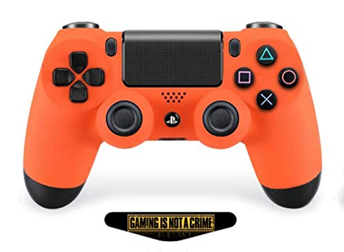 Ps4 PRO Soft Touch Orange Rapid Fire Custom Modded Controller 40 Mods for All Major Shooter Games, Auto Aim, Quick Scope, Auto Run, Sniper Breath, Jump Shot, Active Reload & More (CUH-ZCT2)