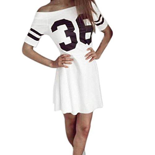 Tongshi Vestido largo de la manga de la letra las mujeres bodycon corto del partido de tarde