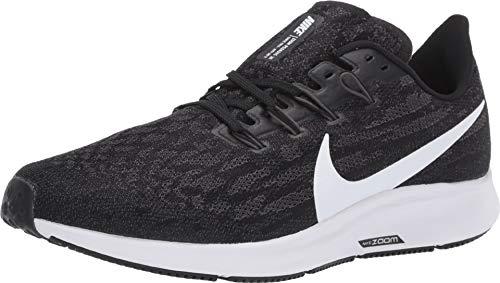 Nike Men's Air Zoom Pegasus 36 Running Shoes (14 D US, Black/White/Thunder Grey)