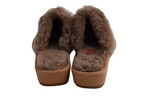 Natleat Slippers 89 Sheepskin Fur Slippers - Zapatillas de estar por casa de Piel para mujer Marrón marrón Marrón - Cappucino