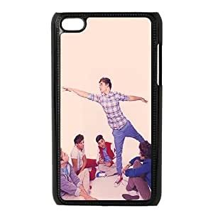 Ipod Touch 4 Cases Harry Zayn and Louis Are Just Having a Conversation Around Him and Niall Is Just Staring at Him Design for Men, Ipod Touch4 Case Design for Men [Black]