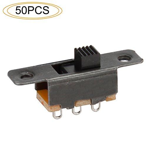Slider Switch - DIYhz 50Pcs 3 Solder Lug Pin ON/Off 2 Position Panel Mount Slide Switch