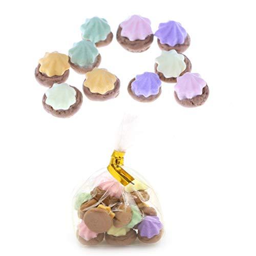 9Pcs/bag 1:12 Dollhouse Miniature Biscuits Mini Desserts Dollhouse AccessoriesQM