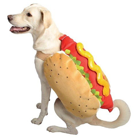 Dog Hot Dog Costumes (Hot Dog Pet Halloween Costume X-small by Target)