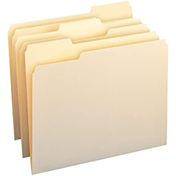 SMEAD File Folders, 1/3 Cut Assorted, One-Ply Top Tab, Letter, Manila, 24/Pack (11928)