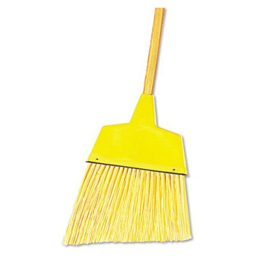 Boardwalk 932A Angler Broom, Plastic Bristles, 42'' Wood Handle, Yellow (Pack of 12)