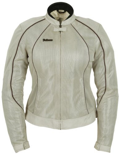 Pokerun Wild Annie Women's Textile Touring Motorcycle Jacket - Cream / Large ()