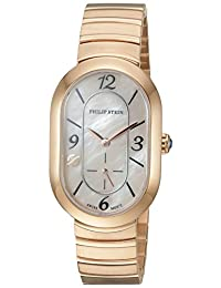 Philip Stein Women's 'Modern' Swiss Quartz Stainless Steel Casual Watch, Color:Gold-Toned (Model: 74RGP-FMOP-MSSRGP)