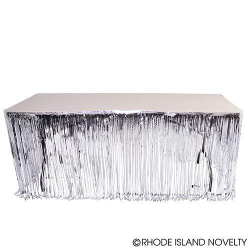 DollarItemDirect 144''X30'' Silver Metallic Fringe Table Skirt, Case of 48