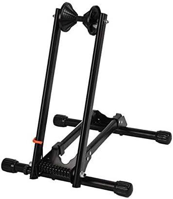 ポータブルダブルポール自転車ラックの修理サポートフレームMTBラックディスプレイスタンドを簡単にインストールします マンションスタンド (Color : Black, Size : 37x32x43cm)