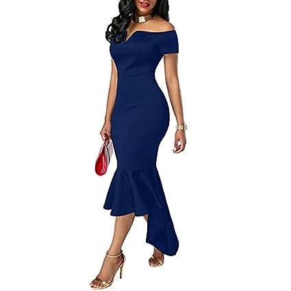Vestido Elegante De Banquete Diseño Delgado V Cuello Fuera
