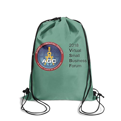Drawstring Backpack Army Geospatial Center Logos Drawstring Bag Limited Edition String Bag Backpack Gym Sack Bag