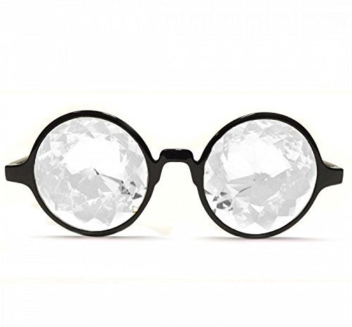 GloFX Black Kaleidoscope Glasses – - Clear Kaleidoscope