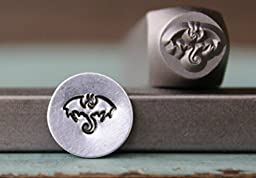 Brand New Supply Guy 8mm Dragon Metal Punch Design Stamp CH-131