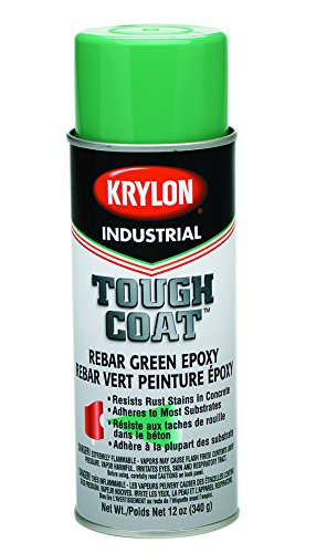Krylon K01732000 Rebar Green Tough Coat Epoxy, 12 fl. oz. Aerosol Can (Pack of 12)