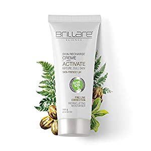 Brillare Activate Skin Recharge Crème For Mature & Dull Skin | Creme 100 g | Tree Fern | Shea Butter | 100% Vegan | No…