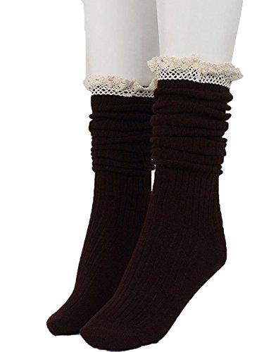 Cotton Footed Warmers Stockings Coffee
