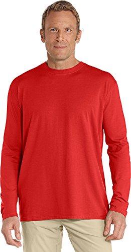 Coolibar UPF 50+ Men's Long Sleeve Everyday T-Shirt - Sun Protective (Large- Tropical ()