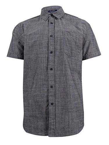 American Rag Men's Short-Sleeve Shirt (S, Black Combo)