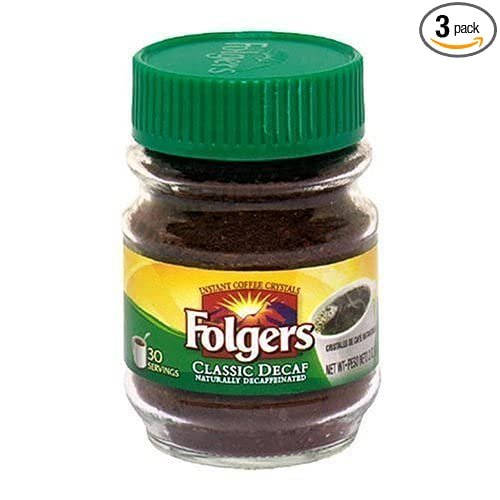 Folgers Classic Decaf Instant Coffee Crystals