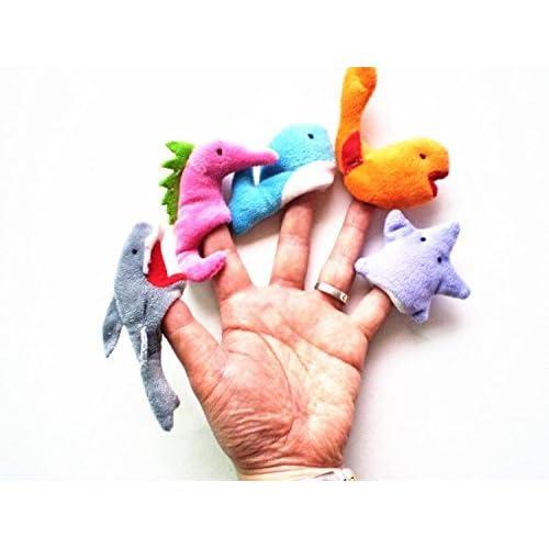 Efbock océan Finger Puppets Set jouet souple Jouets en peluche mignon Apprendre Jouer Animal Story 20pcs